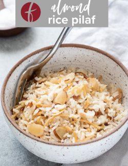 Rice pilaf recipe Pinterest pin 2