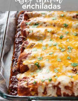 Chicken enchiladas Pinterest pin 2
