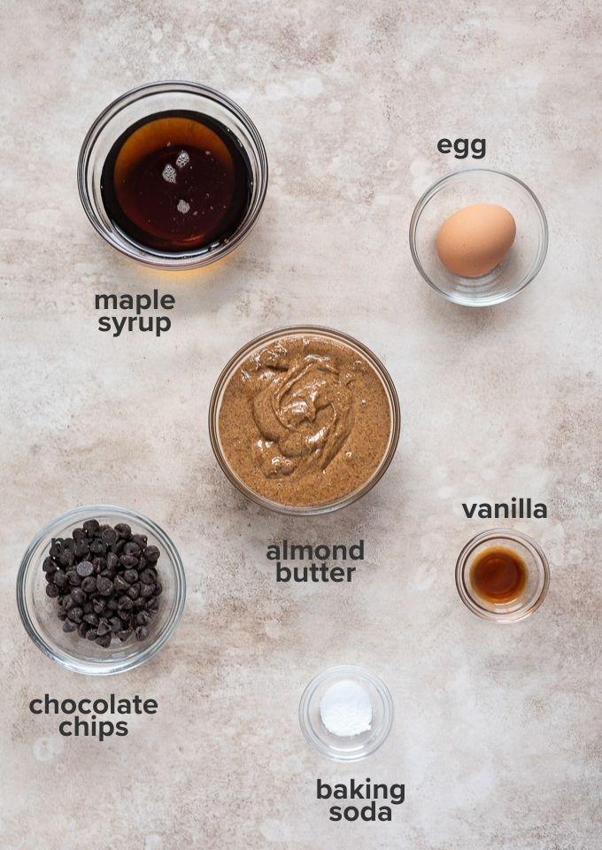 Flourless almond butter cookies ingredients