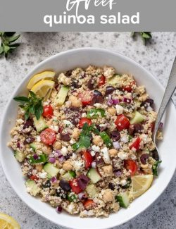 Greek quinoa salad recipe pin 2