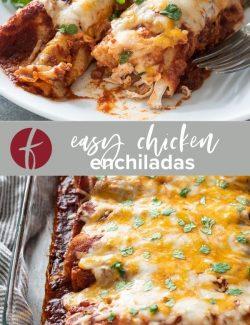 Easy Chicken Enchiladas collage pin