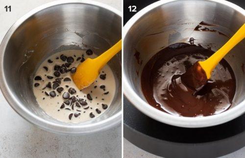 How to make chocolate ganache collage