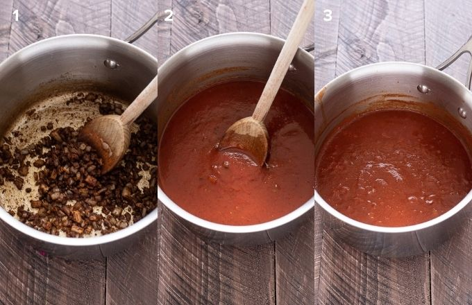 How to make enchilada sauce collage