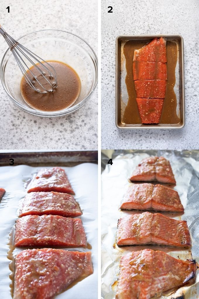 How to make miso salmon collage