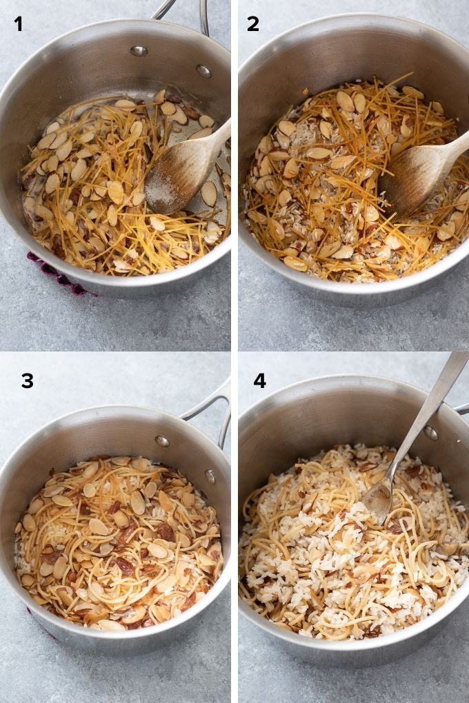 How to make rice pilaf collage