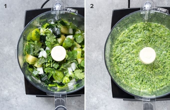 How to make tomatillo salsa collage