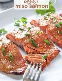 Miso salmon recipe pin 1