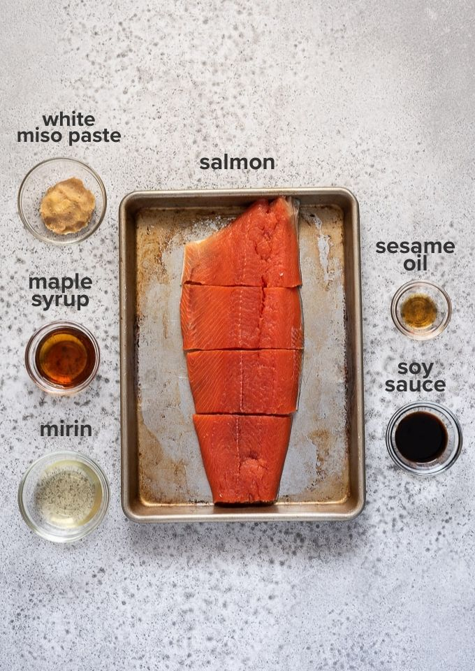 Miso salmon recipe ingredients