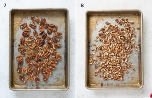 Pecans before and after toasting