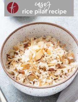 Easy rice pilaf recipe Pinterest pin 1