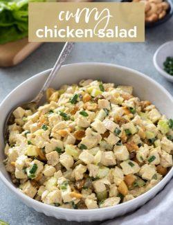 Curry chicken salad recipe pin 2