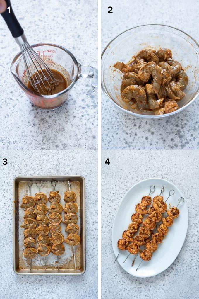 How to make grilled shrimp skewers