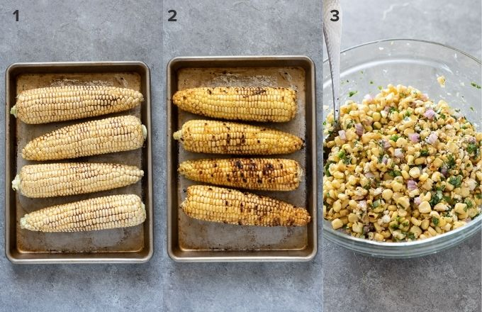 How to make Mexican corn salad collage