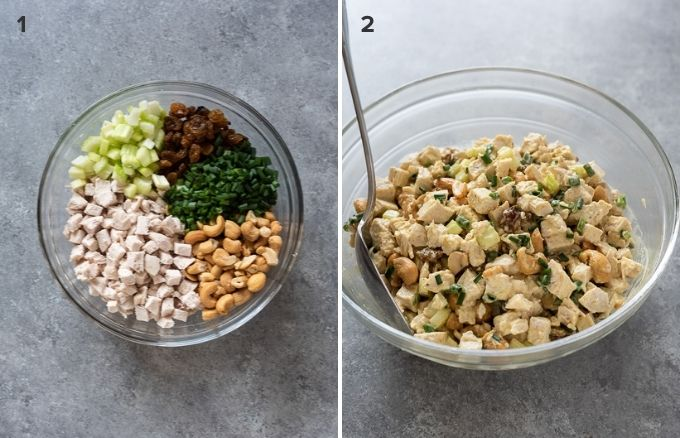 How to make curry chicken salad collage