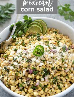Mexican corn salad recipe pin 1