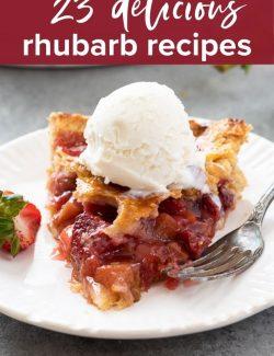 Rhubarb recipes pin 1
