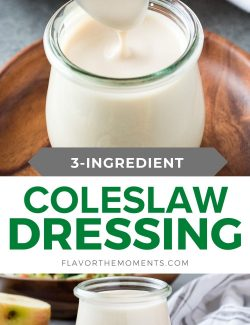 Coleslaw dressing recipe collage pin 1