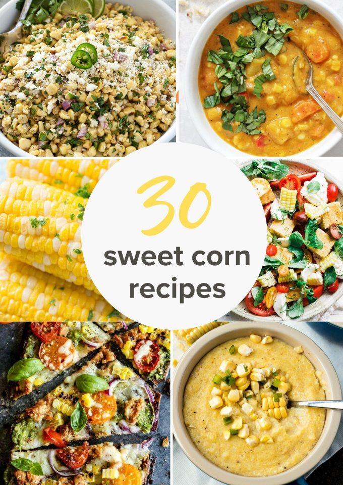 30 Corn recipes collage pin