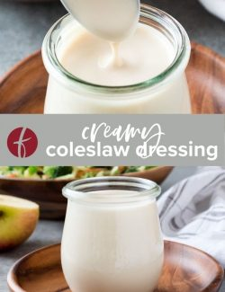 Creamy coleslaw dressing collage pin 2
