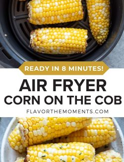 Air fryer corn on the cob long collage pin
