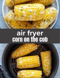 Air fryer corn on the cob short collage pin