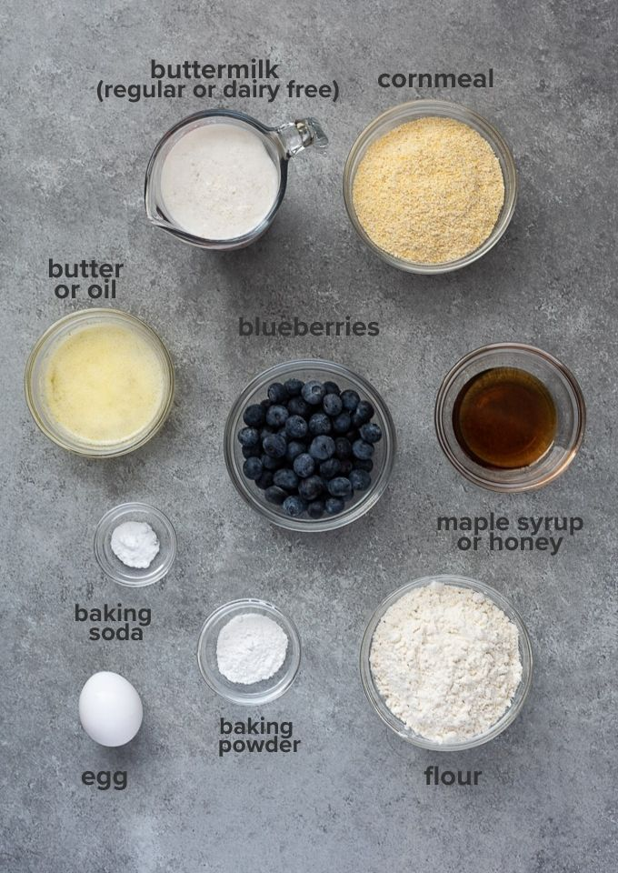 Blueberry cornbread recipe ingredients