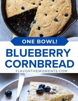 Blueberry cornbread long collage pin
