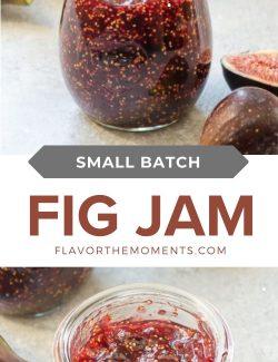 Small batch fig jam long pin