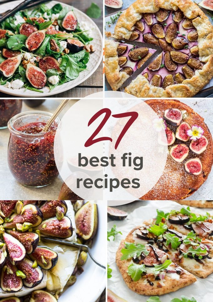 Collage pin for 27 fig recipes