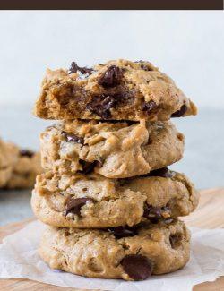 Flourless Peanut Butter Cookies long pin
