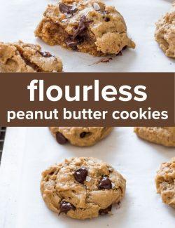 Flourless peanut butter oatmeal cookies short pin