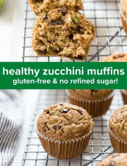 Healthy Zucchini Muffins short collage pin