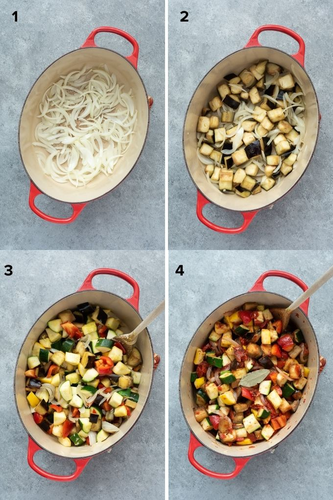 How to make ratatouille collage