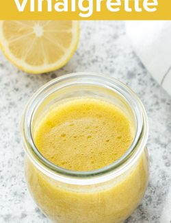 Lemon vinaigrette recipe long pin