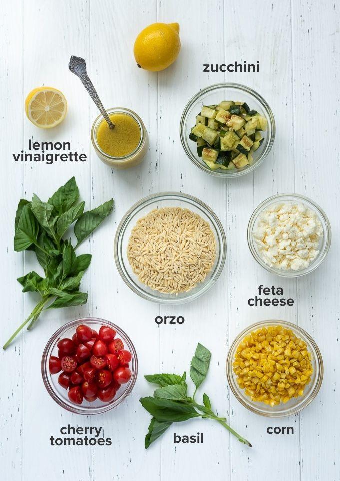 Orzo pasta salad recipe ingredients