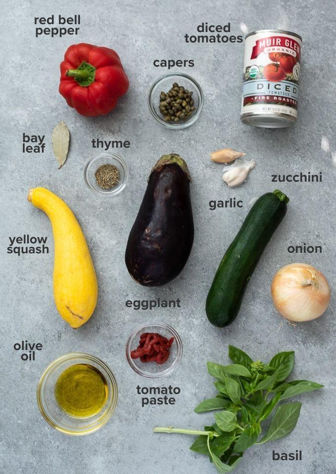 Ratatouille recipe ingredients