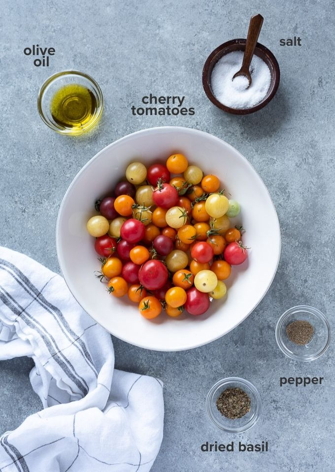 Roasted cherry tomatoes recipe ingredients