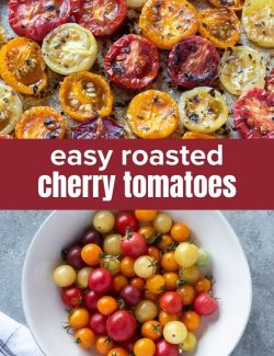 Easy Roasted Cherry Tomatoes short collage pin