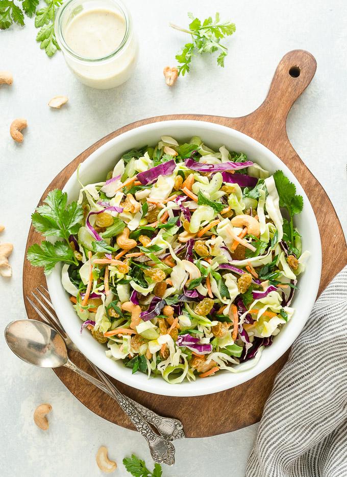 Vegan coleslaw recipe without dressing