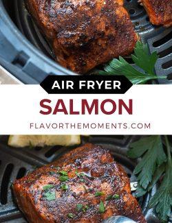 Salmon air fryer long collage pin