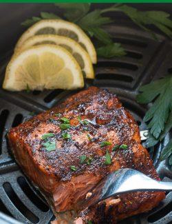Air fryer salmon long pin
