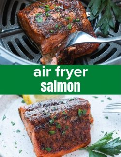 Salmon in air fryer short collage pin