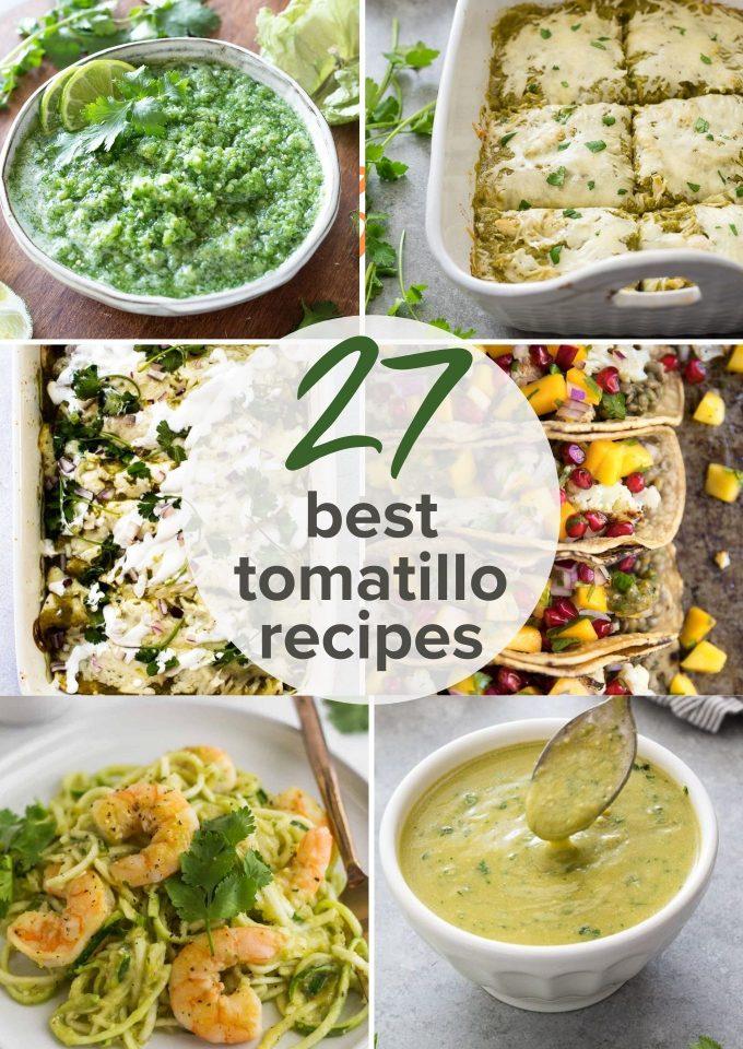 collage of 25 tomatillo recipes