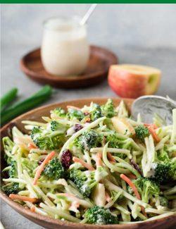 Healthy broccoli slaw long pin
