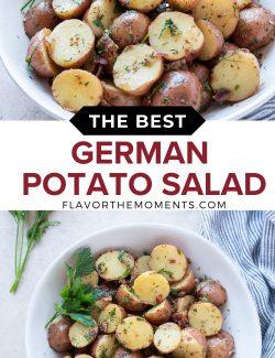 German potato salad recipe long collage pin