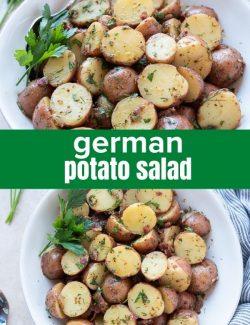 German potato salad short collage pin