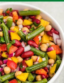 Three bean salad long pin