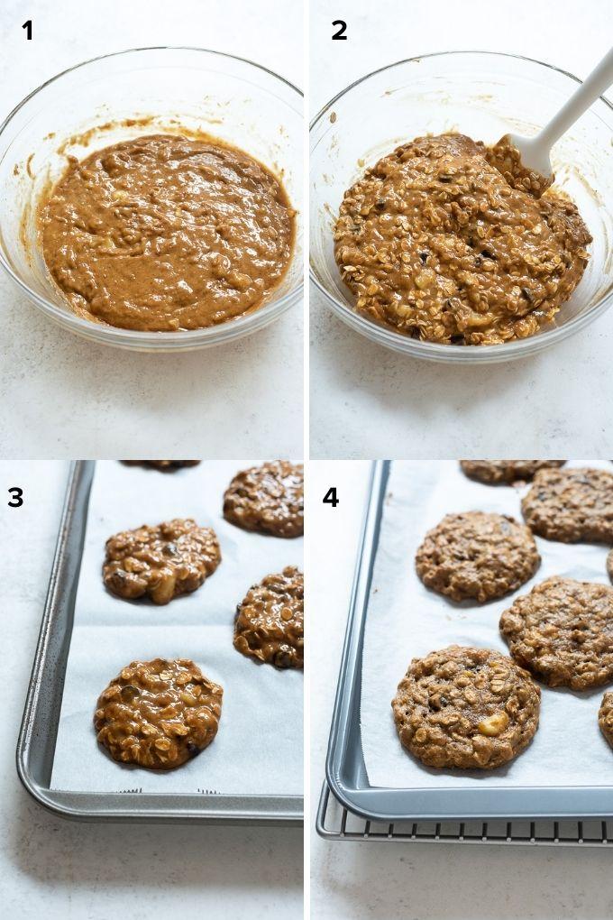 How to make peanut butter banana cookies
