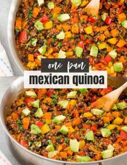 One pan Mexican Quinoa recipe collage pin