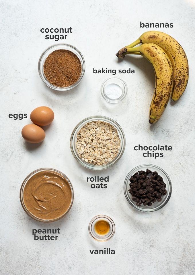 Peanut butter banana cookies ingredients